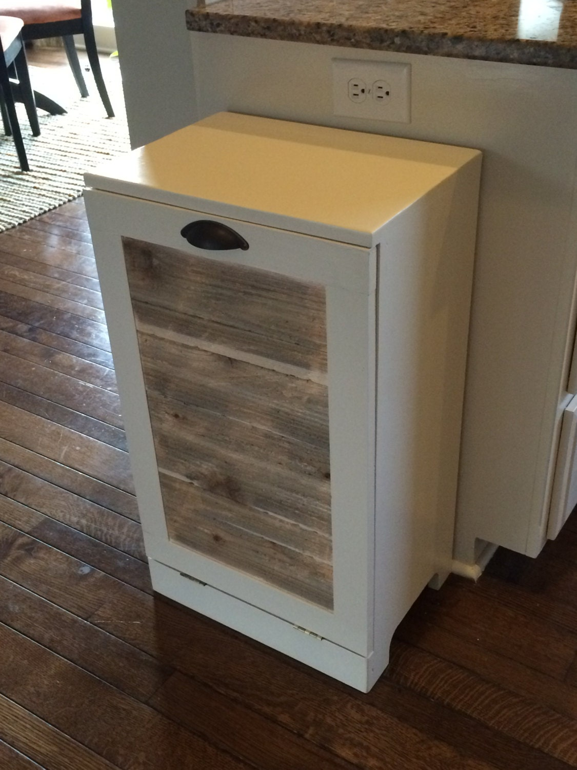 Rustic Tilt Out Trash Bin Reclaimed Wood By Lovemade14 On Etsy
