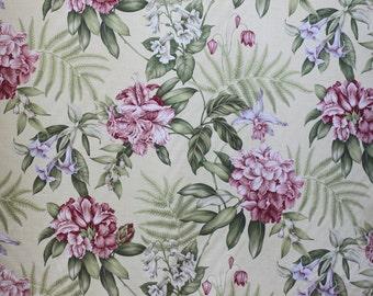 Fabric Upholstery/Drapery, Summer Splendor Buttercream by Waverly, for Drapery Bedding Upholstery,