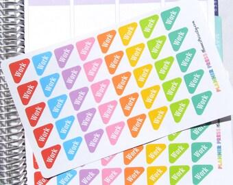 Work Rounded Corner Flags Font One Planner Sticker for Erin Condren Life Planner (ECLP) Reminder Sticker 1744
