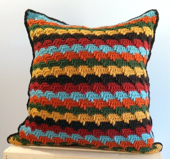 Southwestern Throw Pillows For Couch : Items similar to Southwestern Throw Pillow Cover 20x20, Striped Pillow Cover, Stripes Pillow ...