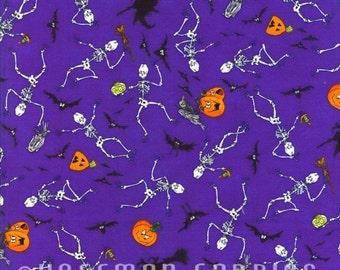 Hoffman - Goul House Rocks - Jacki Frerichs - M4222-14 - Halloween - Novelty - Skeletons - Pumpkins - Purple- One More Yard