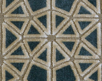 POLLACK CROSSCUT Plush Cut Velvet UPHOLSTERY Fabric 5 Yards Water Wheel