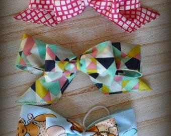 Co-ordinating girls large Hair Bow