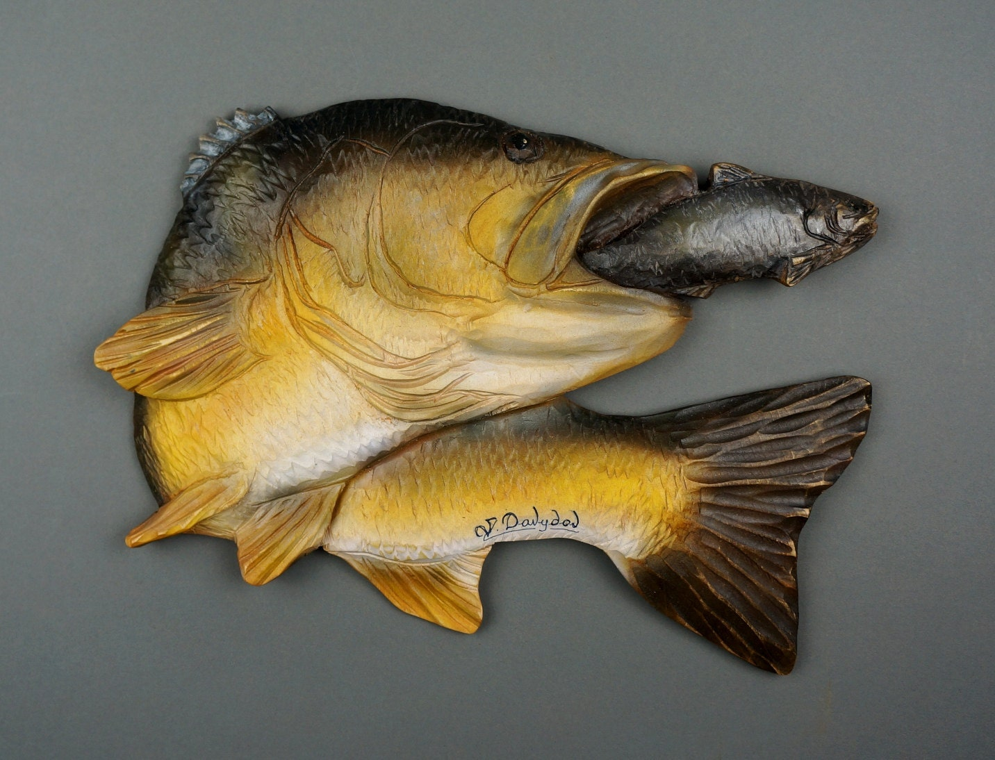 Colorful Wooden Fish Wall Decor Model - Wall Art Collections ...
