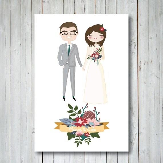 custom illustrated wedding invitation by thepaperberry on etsy With etsy illustrated wedding invitations