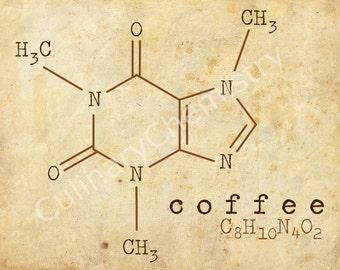 Coffee/Caffeine Chemistry Poster (Digital Download)