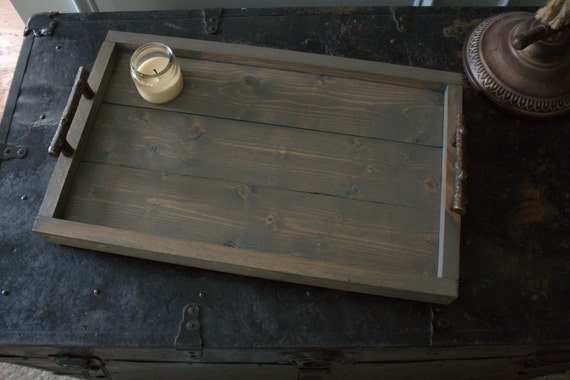 Rustic Wooden Serving Tray Coffee Table Tray Tv By Portcityrustic
