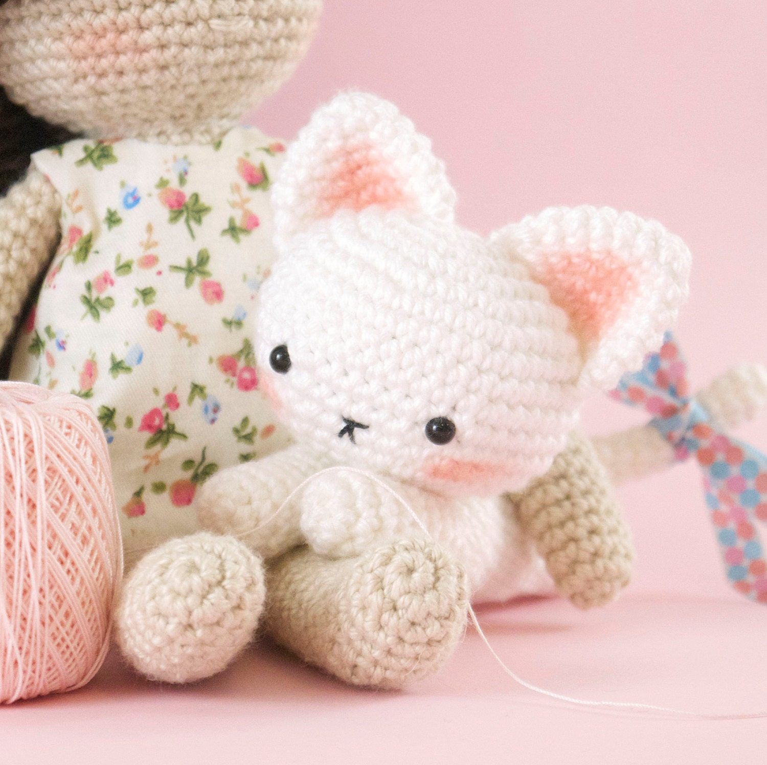 Amigurumi crochet cat PATTERN ONLY (English) - Zeppy.io