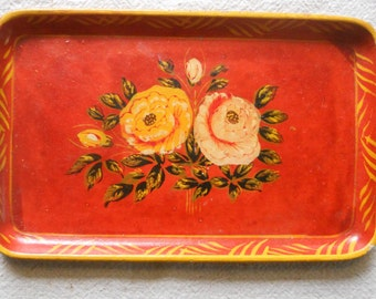 decorated, paper mache tray from Japan
