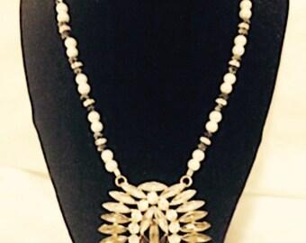 Black & White Statement Necklace