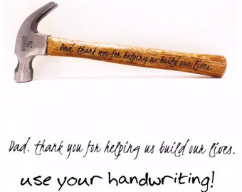Personalized hammer, engraved hammer, Father's Day gift, gift for dad, gift for dad, Birthday gift for dad, Tools for Dad, personalized gift