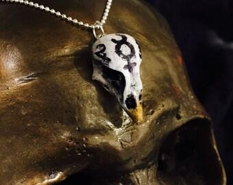 Alchemy bird skull necklace / alchemist necklace / bird skull