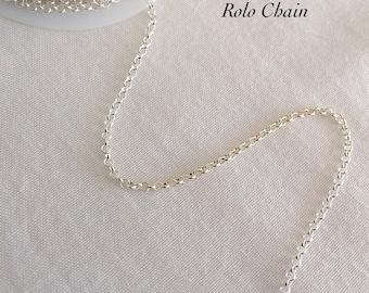 UPGRADE to Rolo Chain, Sterlin Silver, Silver Chain, Silver Rolo Chain, Silver Chain Necklace, Silver Chain Bracelet,