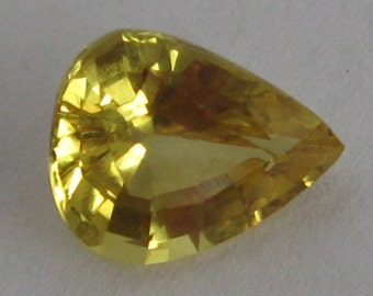 Genuine 1.4 ct unheated untreated yellow sapphire 1.4 ct