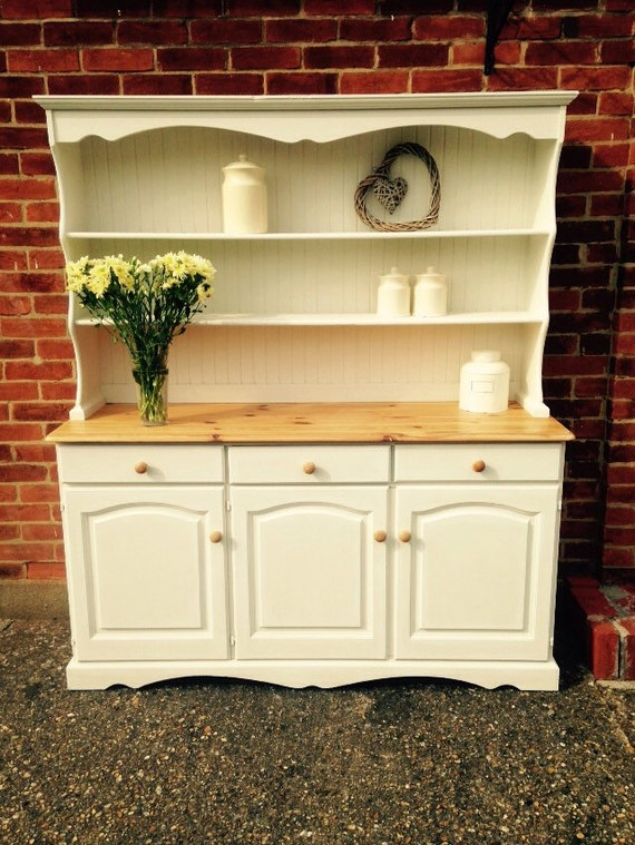 Country Farmhouse Welsh Dresser Shabby Chic By Thelittleprairie