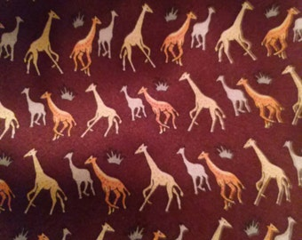 Giraffe men's necktie