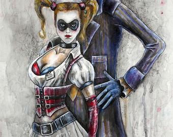 The Joker and Harley Quinn DC 10''x12'' Artwork Print