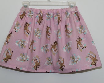 3T Girls Pink Bambi Skirt, Disney Bambi Print Skirt - Pink Bambi Skirt, Baby Bambi Skirt, Girls Skirt, Toddler Skirt