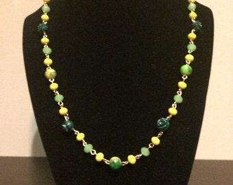 Green garden beads