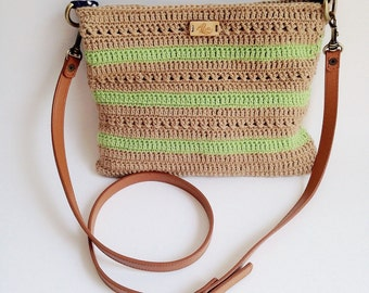 Alva Striped Messenger Bag