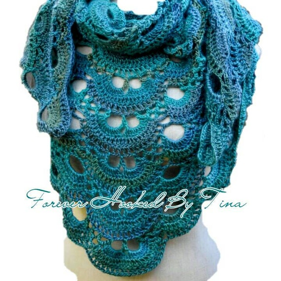 Crochet Pattern For The Virus Shawl : Crochet Virus Shawl in Tidal Triangle Shawl by ...