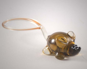 Glass Mouse  Figurine (code 385)