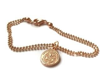 Bracelet quart er Rosé gold coin United States
