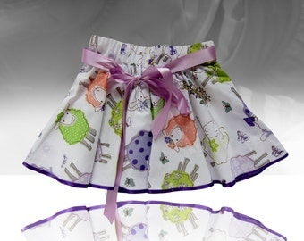Twirl collor sheep skirt for a little lady