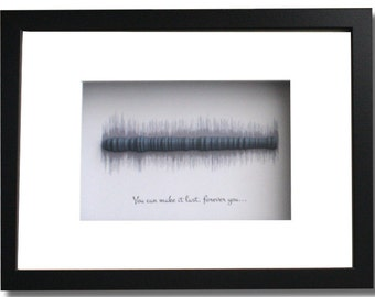 Song lyrics 3D sound wave art; Wedding song display; Valentines day gift; Great idea for personalized special song art gift for him or her