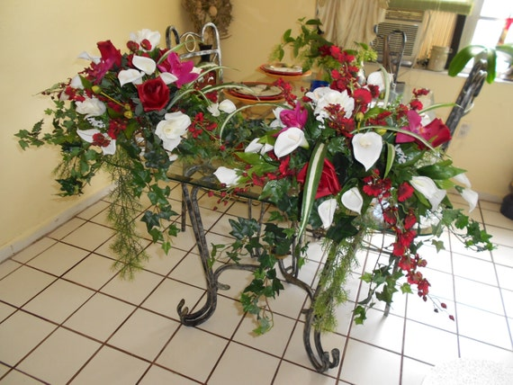 Large table centerpieces for wedding or home decoration red