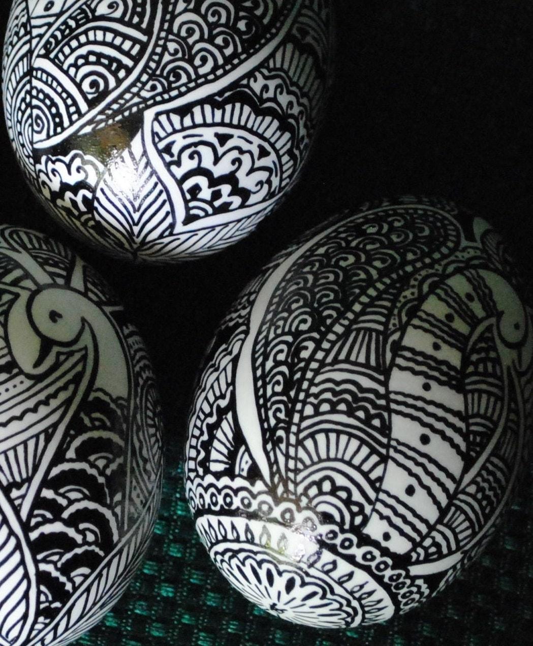 ukrainian decorated eggspysankyvintage by theeggnpagan