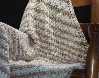 Handknit Machine Washable Baby Blanket