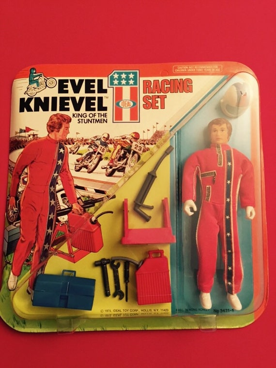 1975 ideal toys evel knievel racing set new old stock. Black Bedroom Furniture Sets. Home Design Ideas