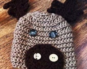 Moose baby hat