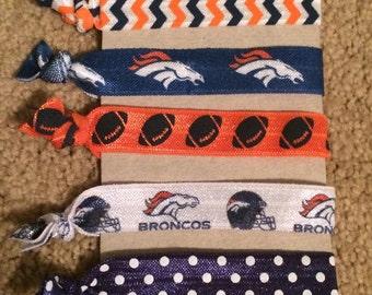 Denver Broncos Elastic Hair Ties