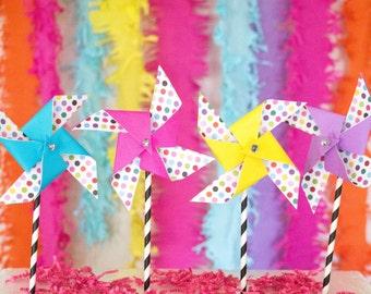 Party favors, party favors for kids, party favors kids, party favors for girls,paper pinwheels,party pinwheels,first birthday, girl birthday