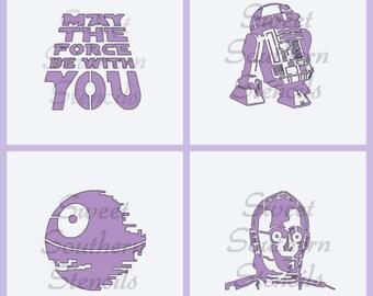 SW Stencils #2 (4 separate stencils)