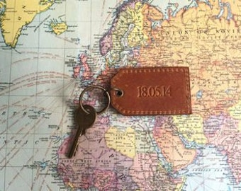 Leather Key Ring By Vida Vida