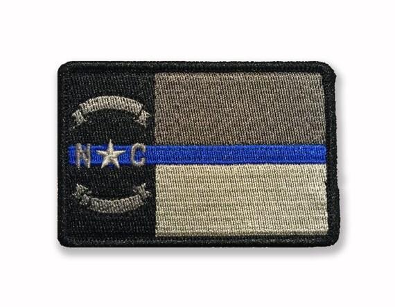 Thin blue line north carolina state flag by stevenstacticalshop