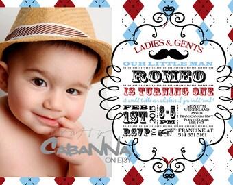 Little Man's Birthday Party Invitation
