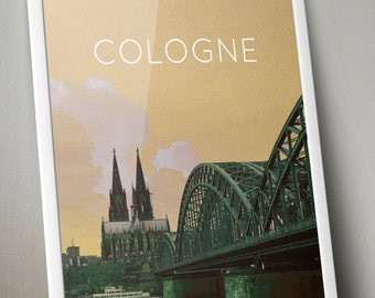 Cologne Germany Poster 11x17 18x24 24x36