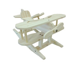 Swing plane from pine wood (rocking horse, aircraft)