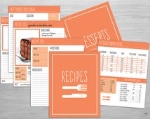 "Printable Recipe Binder Organizer // Over 30 Print Ready 8.5""x11"" Pages for Cooking and Baking! - Digital PDF + Instant Download"