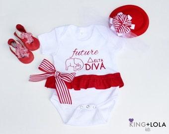 Future Delta Sigma Theta Onesie Onezie only Tshirt