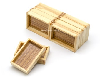 10pc/Set - Dollhouse Miniatures Small Wooden Tray