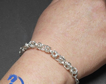 Classic Chain Maille Bracelet Silver Plated
