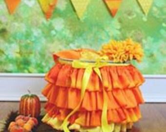 Ruffle Bucket Skirt Photography Prop Candy Corn