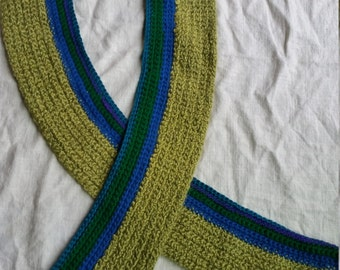 Green, Blue and Purple  Scarf