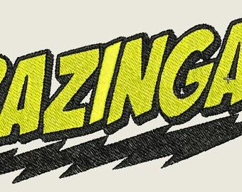 Bazinga Embroidery Design