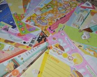 MASSIVE Kawaii Grabbie Lot! Memos, Sticker Flakes, Letter Sets, Deco Tape and More! From Kamio, MindWave, Sanrio, San-x and More!